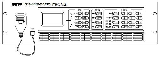 。它可以同时接入最多两路功放,以满足工程上的最大限度的需要。具备 SD卡接口,可播放 SD卡中 MP3 格式音频进行正常广播。作为应急广播也兼顾了正常广播播音的需要,二者自由切换,应急广播优先。  二、GST-GBFB-200/MP3广播分配盘主要技术指标 (1)工作电压:DC24V (2)两路广播总线 (3)可最多级联两台功率放大器 (4)使用环境: 温度:0~+40 相对湿度≤95%,不结露 (5)外形尺寸: 132.