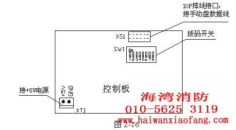 海湾消防主机ld-sd064a智能手动消防启动盘结构说